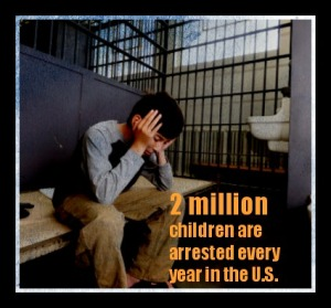 child in prison with graphic